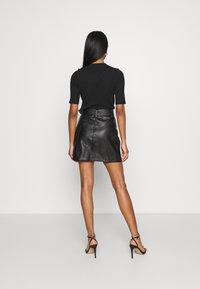 Topshop - HARDWEAR ZIP BIKER SKIRT - A-line skirt - black - 2