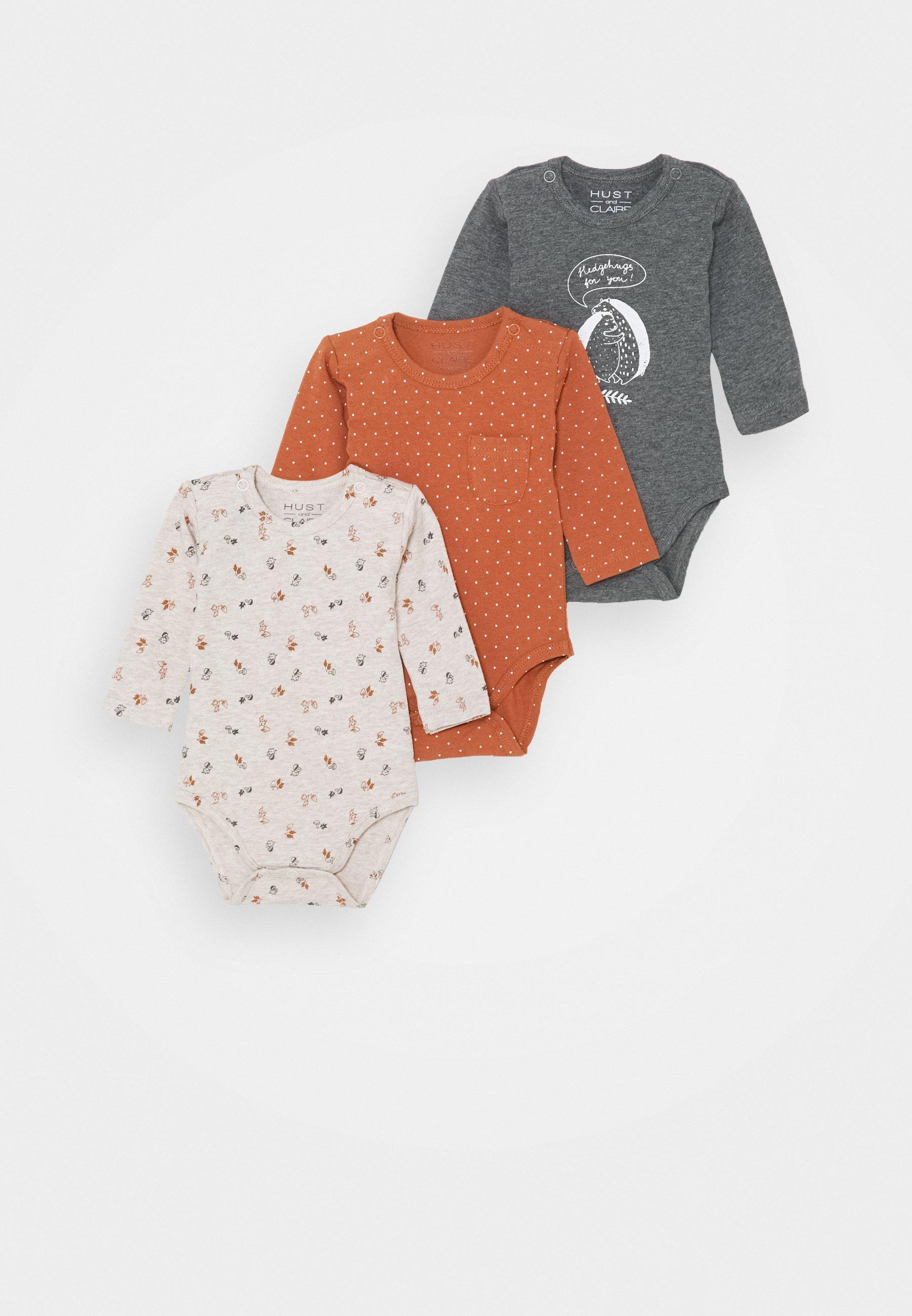 Care Unisex Baby Langarm-Body 3er Pack
