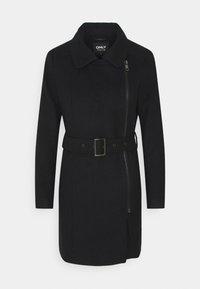 ONLY - ONLOLIVIA LONG BIKER COAT - Zimní kabát - black - 6