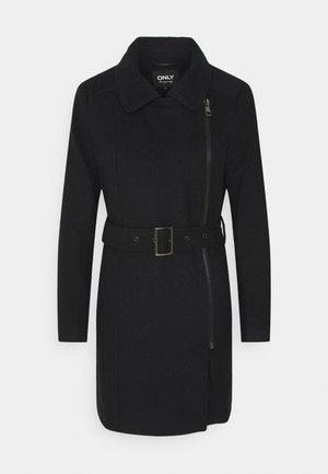 ONLOLIVIA LONG BIKER COAT - Zimní kabát - black