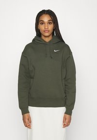 Nike Sportswear - HOODIE TREND - Felpa con cappuccio - cargo khaki/white - 0