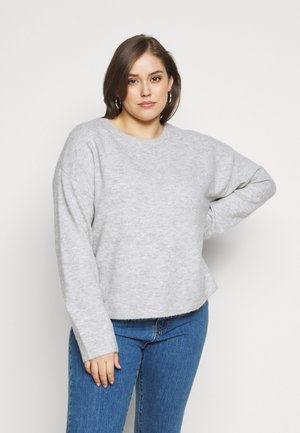 VMPLAZA BOXY BLOUSE - Jumper - light grey melange