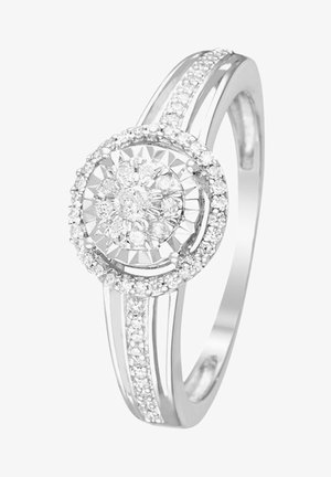 WHITE GOLD RING 9K CERTIFIED 61 DIAMONDS HP1 0.2 CT - Anillo - silver