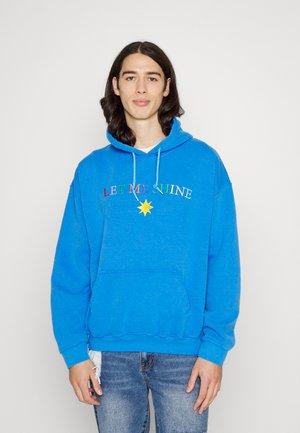 LET ME SHINE EMBROIDERED HOODIE - Hoodie - blue