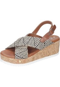 Piazza - Wedge sandals - black - 1