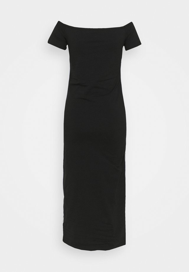BARDOT PIPING DRESS - Maxi-jurk - black
