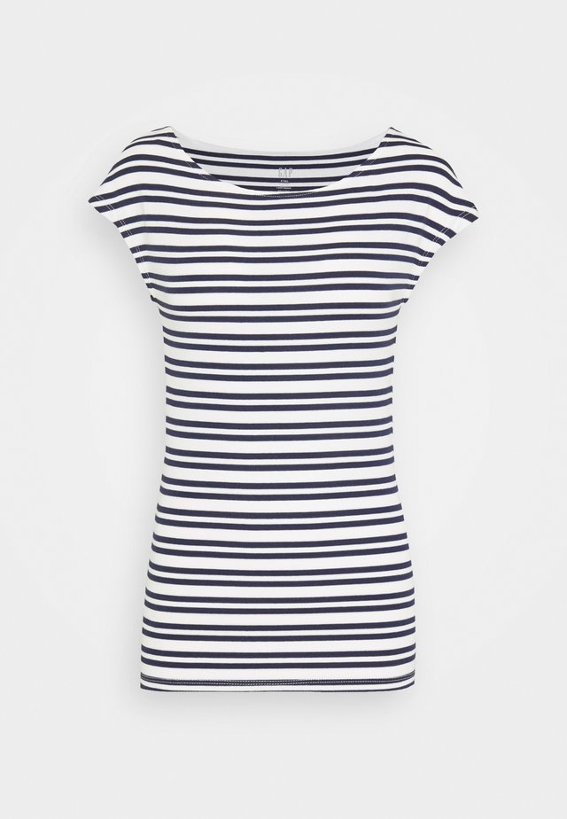 BATEAU STRIPE - Print T-shirt - navy