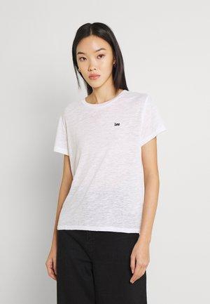 CREW TEE - T-shirt - bas - bright white