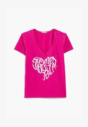 Print T-shirt - bohemian pink
