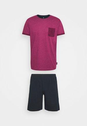 SHORTY - Pyjama - red/dark melange