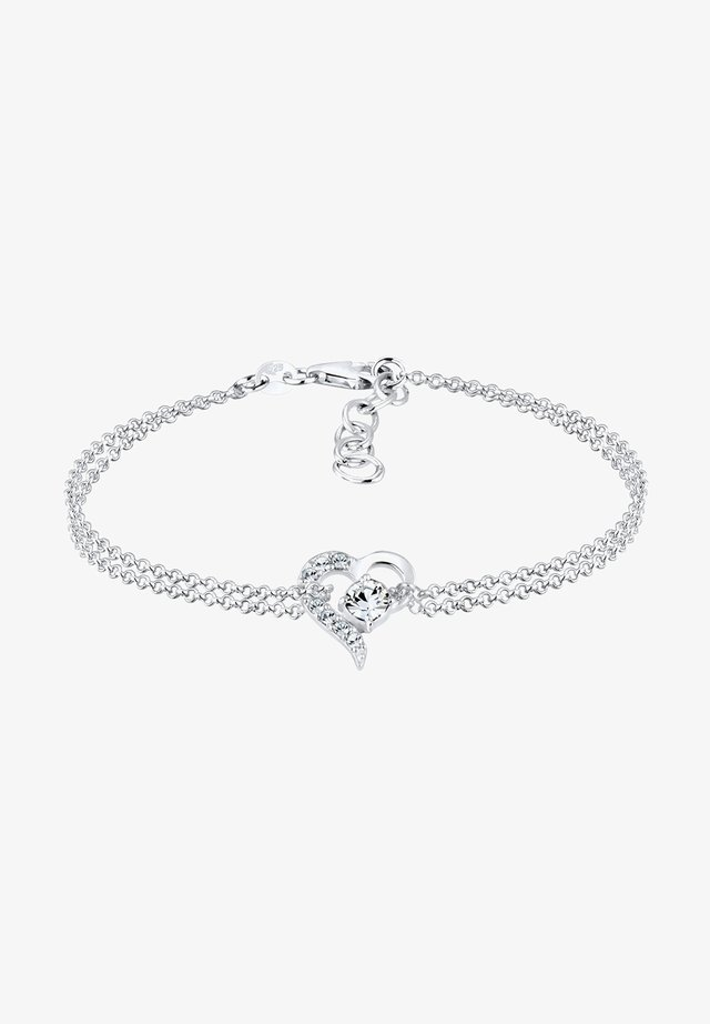 HERZ LIEBE  - Armband - silver-coloured
