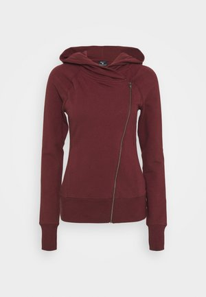 YOGA FITTED - Zip-up hoodie - night maroon/team red