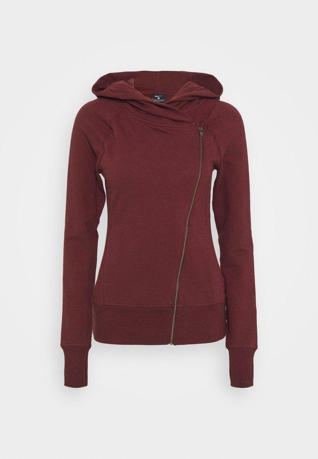 YOGA FITTED - Zip-up hoodie - night maroon/team red