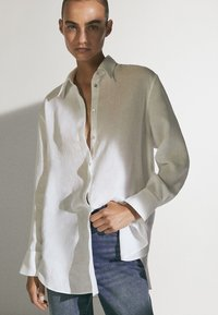 Massimo Dutti - Button-down blouse - white - 3