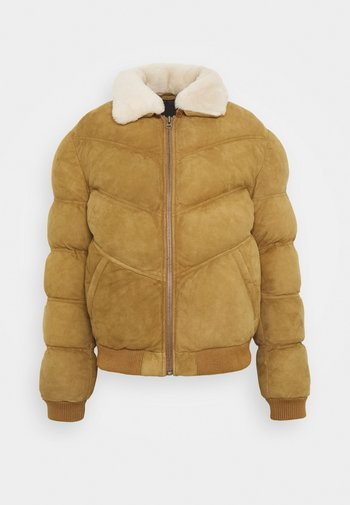 POLAR - Leather jacket - camel