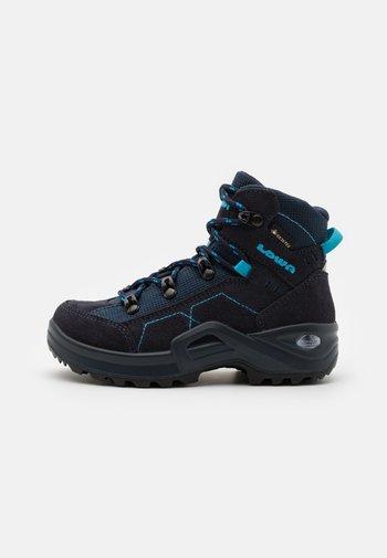 KODY III GTX MID JUNIOR UNISEX - Hiking shoes - navy/türkis