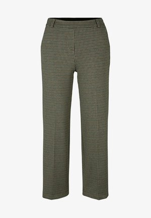 Trousers - beige green small check