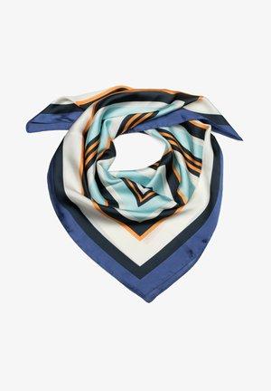 Foulard - blau orange türkis