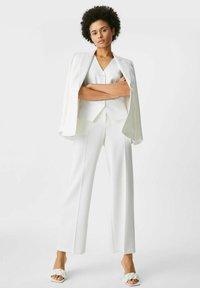 C&A - Waistcoat - white - 1