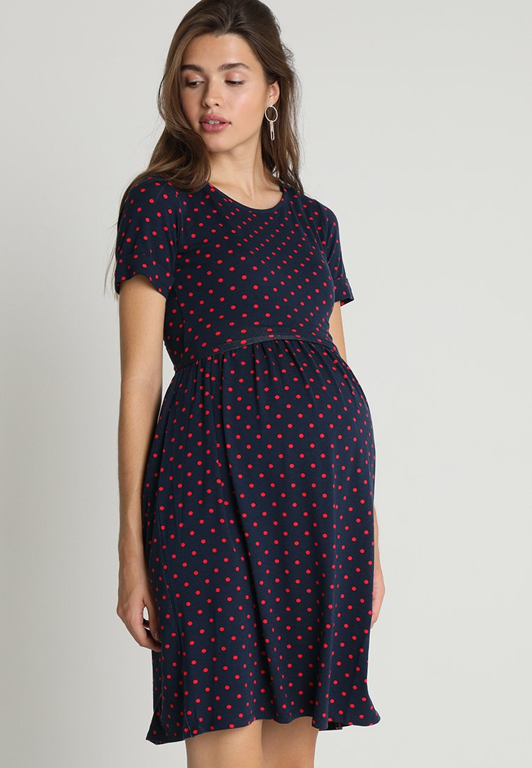 Envie de Fraise - LIMBO - Jersey dress - navy blue/red