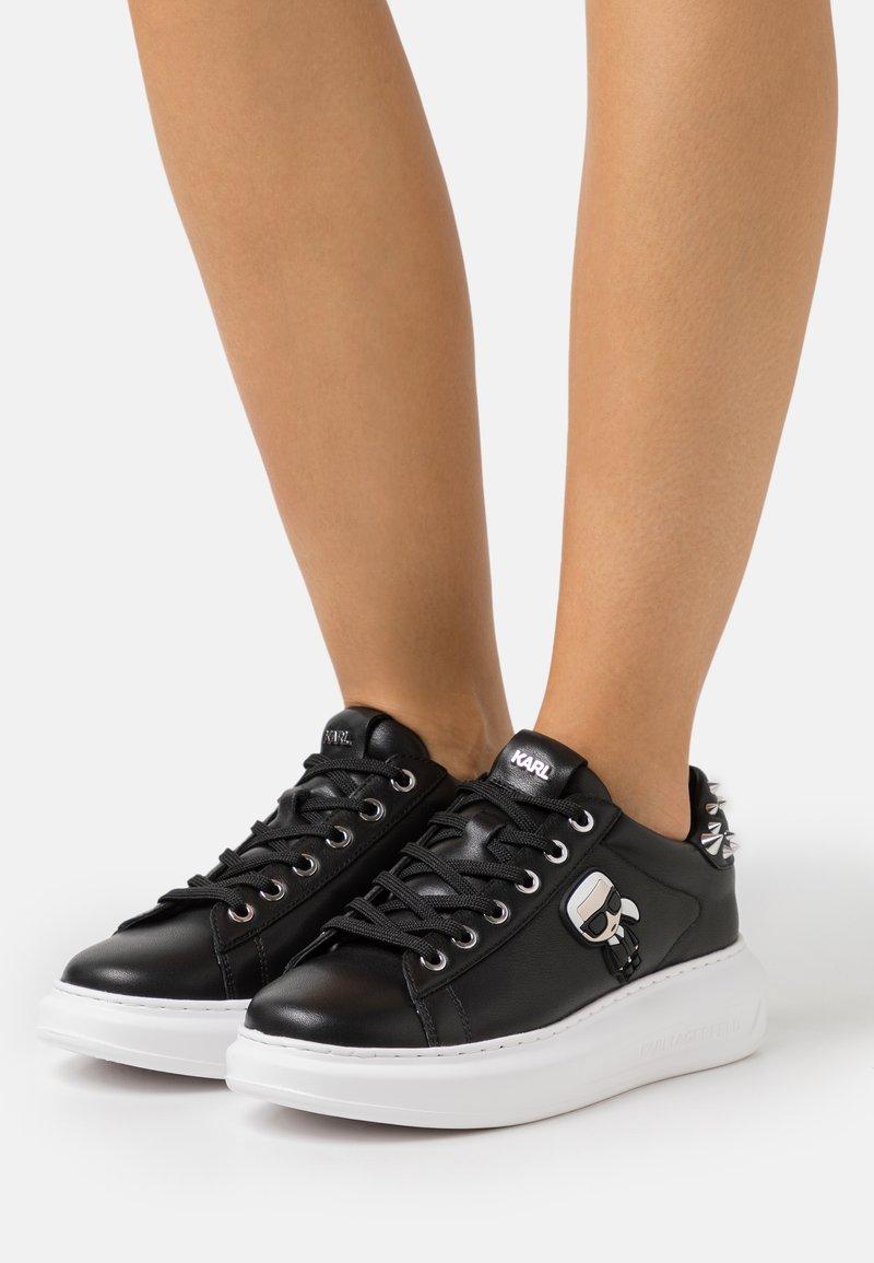 KARL LAGERFELD - KAPRI IKONIC STUD TAB - Sneaker low - black