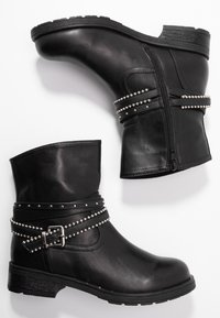 H.I.S - Kovbojské/motorkářské boty - black - 3