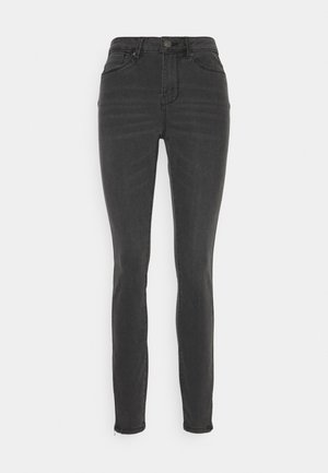 VMTILDE MR ANKLE ZIP - Slim fit jeans - medium grey denim