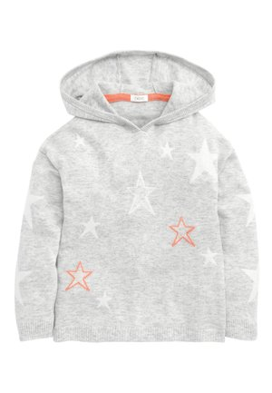 GREY STAR PRINT HOODY (3-16YRS) - Mikina skapucí - grey