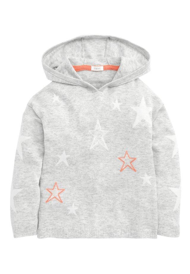 GREY STAR PRINT HOODY (3-16YRS) - Sweat à capuche - grey