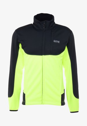 THERMO TRAIL - Fleece jacket - black/neon yellow