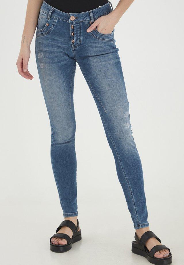 PZMARY  - Jeans Skinny Fit - medium blue denim