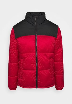 PUFFER COLLAR - Vinterjakker - tango red/black
