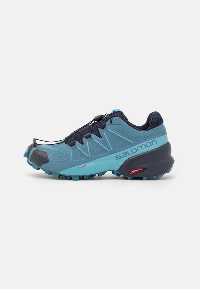 Salomon - SPEEDCROSS 5 - Běžecké boty do terénu - bluestone/night sky/delphinium blue