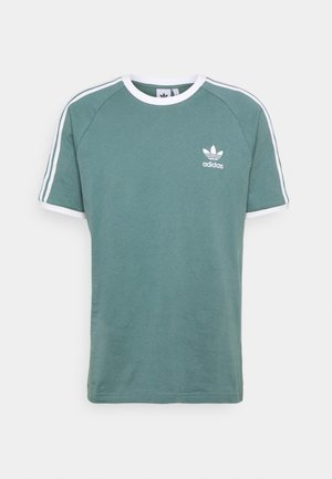 STRIPES TEE - Printtipaita - hazy emerald