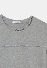Calvin Klein Jeans - LOGO PIPING FITTED - Print T-shirt - grey - 2