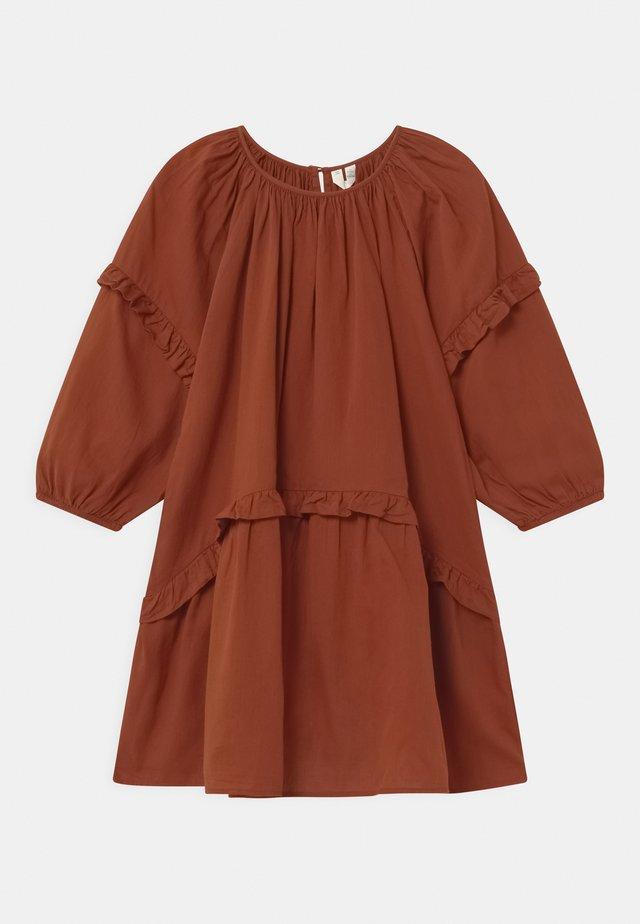 Korte jurk - brown medium
