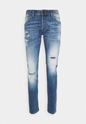 JJIGLENN JJFOX - Tapered-Farkut - blue denim