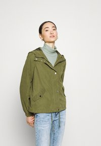 JDY - JDYNEWHAZEL SHINE JACKET - Summer jacket - winter moss - 0