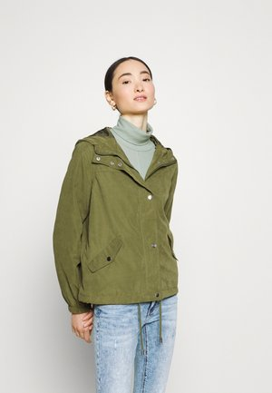 JDYNEWHAZEL SHINE JACKET - Summer jacket - winter moss