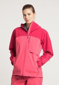 PYUA - Waterproof jacket - jalapeno red - paradise pink - 0