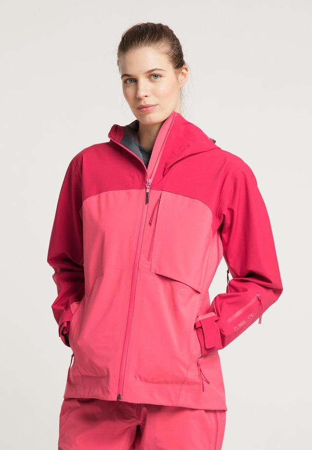 Waterproof jacket - jalapeno red - paradise pink