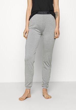 SLIM WITH LOGO WAIST - Pyjamasbukse - grey