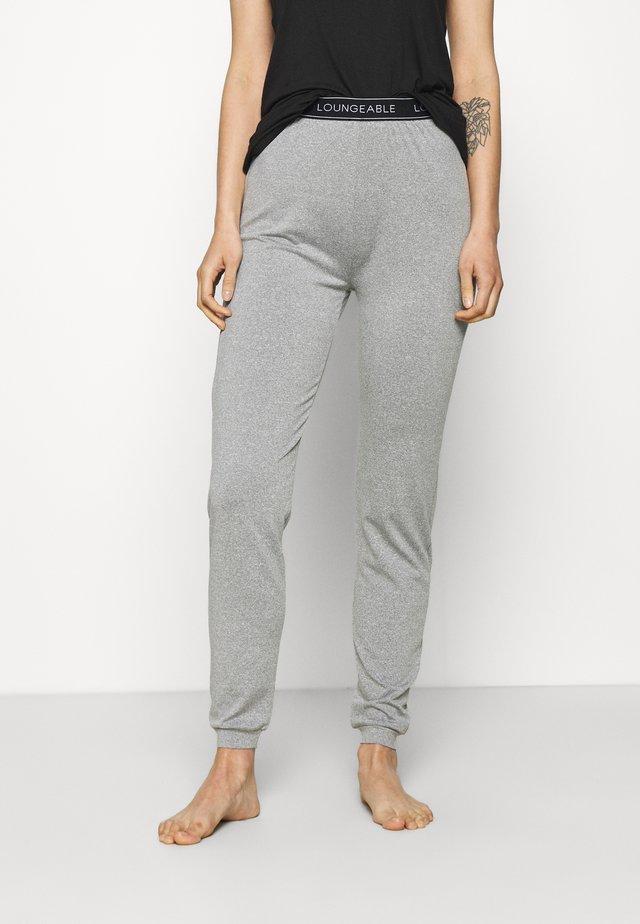 SLIM WITH LOGO WAIST - Pyjama bottoms - grey