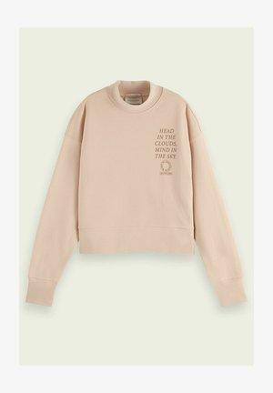 CREWNECK ORGANIC CROPPED - Sweatshirt - eggshell