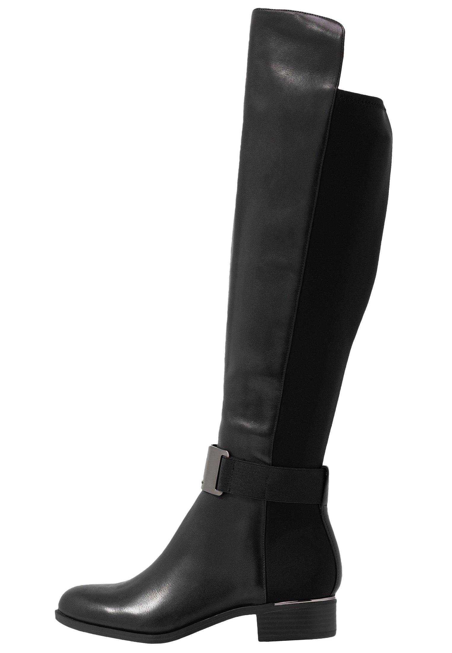 GENNIE Overknee laarzen blackgunmetal