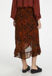 InWear - A-line skirt - cayenne poetic flower - 2