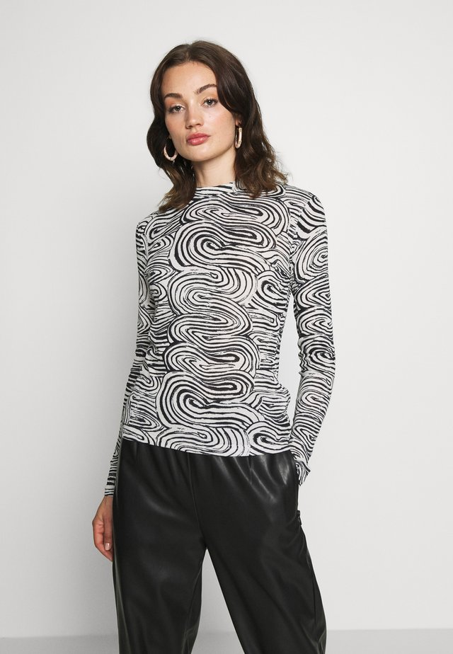 MEJA LONG SLEEVE - T-shirt à manches longues - black/white