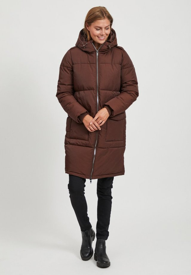 OBJZHANNA LONG JACKET  - Winter coat - chicory coffee