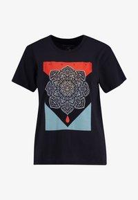 Obey Clothing - BLOOD OIL MANDALA - Print T-shirt - black - 3