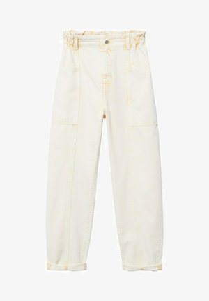 Relaxed fit jeans - pastel yellow